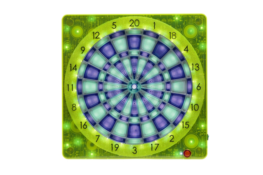 Online Connect Dartboard Smartness Square 501 Front mit LEDs